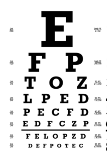 eyesight - Snellen chart
