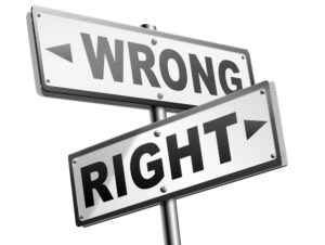 rights - right and wrong