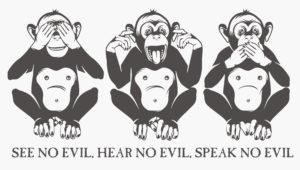 Santa Claus Syndrome - Three wise monkeys